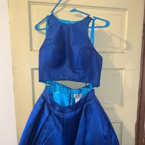 Royal blue homecoming dress two piece!!